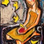 Nuée d'oiseaux jaunes