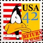 VENDU:  Daffy Duck (return to sender)