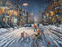 Par un beau soir d'hiver dans les rues du Plateau