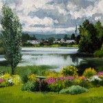 Brise sur l'étang