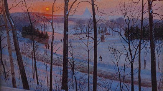 Crépuscule sur le Mont-Royal