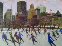 Les patineurs du Vieux-Port de Montréal