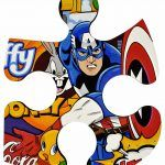 Mini-puzzle Capitaine America