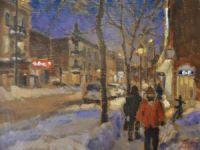 Rue Mont-Royal sous la neige