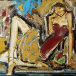 Femme au corset rouge