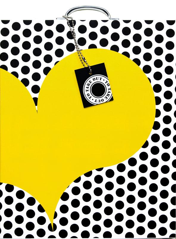 Coeur à emporter  – jaune