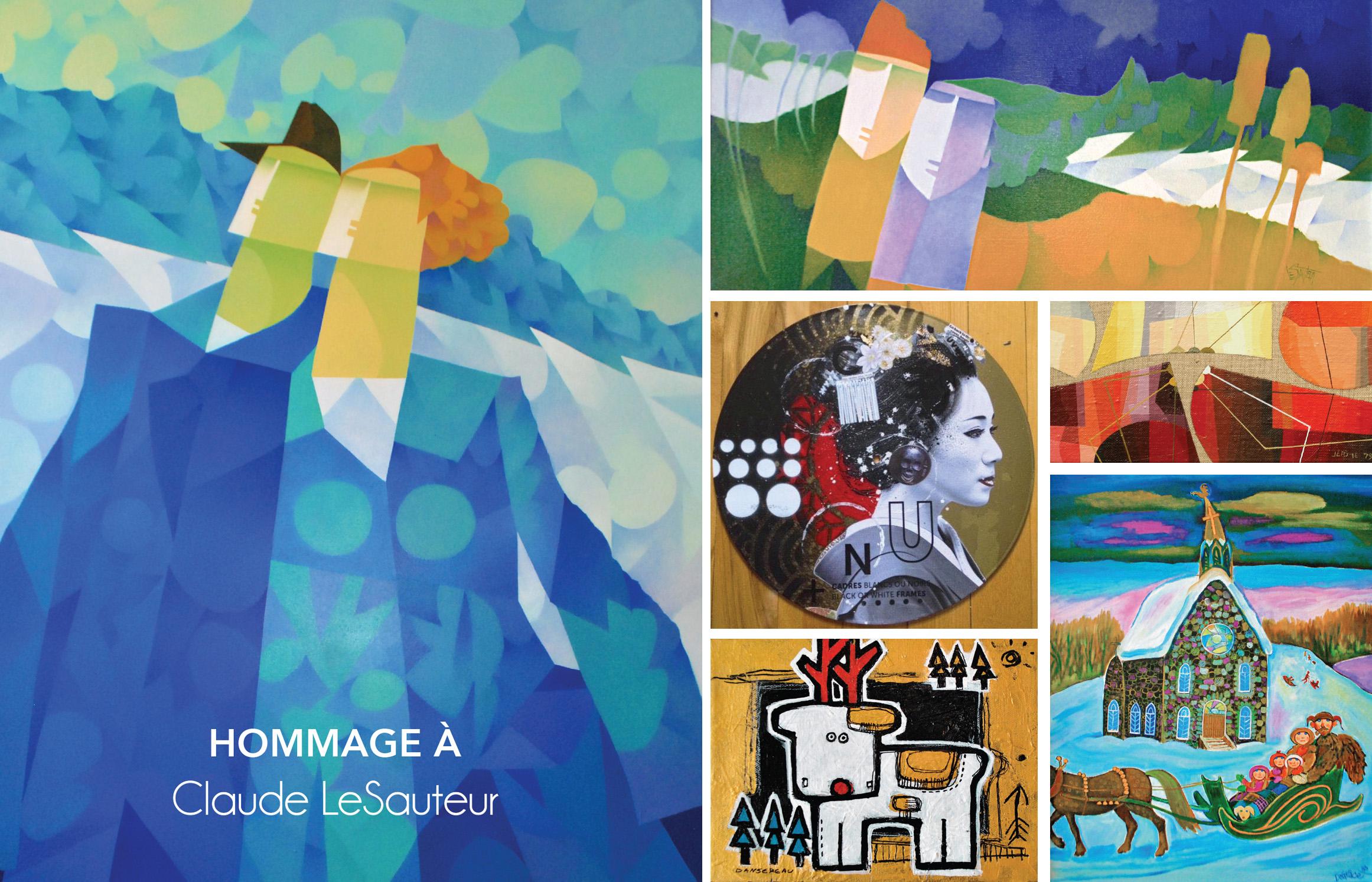 Galerie Michel-Ange, Claude Lesauteur, artiste montréal, exposition montréal, exposition vieux-montréal, exposition d'art, vernissage, vernissage art, petits formats de noel,