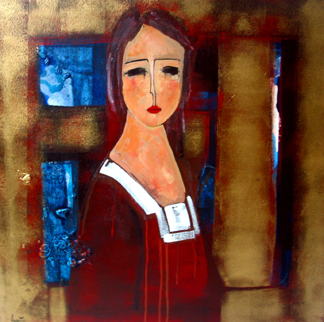 Jeune fille à la robe rouge